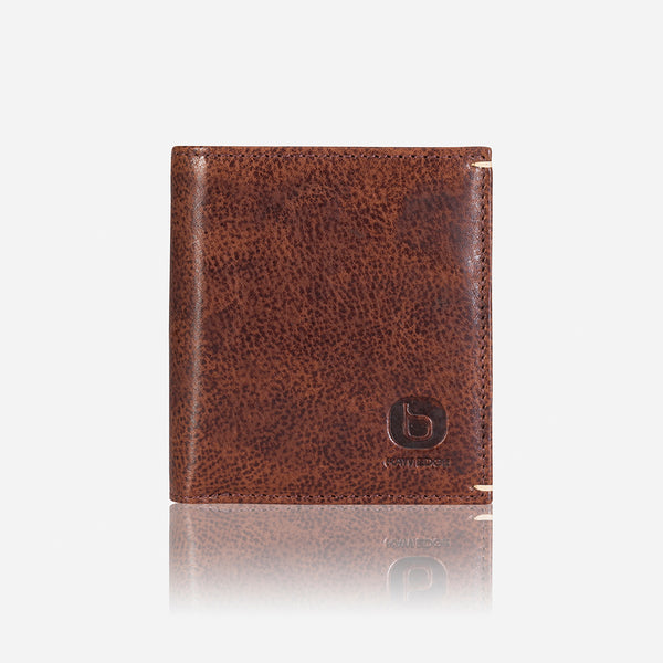 Slim Flip Leather Wallet, Brown