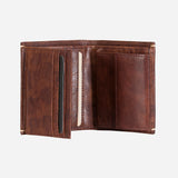 Slim Flip Leather Wallet, Brown - Leather Wallet | Brando Leather South Africa