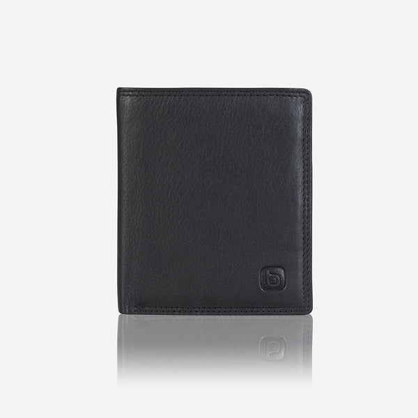 Multi Card Upright Men's Leather Wallet, Black - Wallet | Brando Leather South Africa