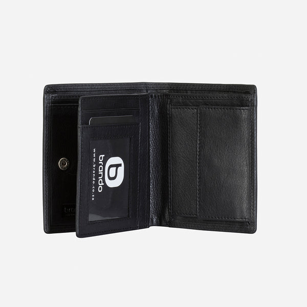 Multi Card Upright Men's Leather Wallet, Black