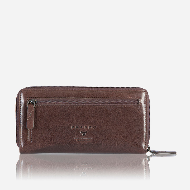 Cooper X Multi Card Purse-Zip & Tab-Brown - Leather Purse | Brando Leather South Africa