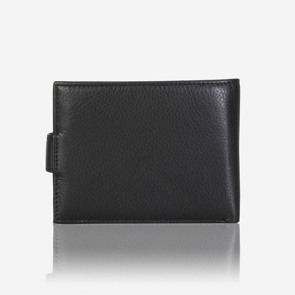 Multi Card Leather Wallet With Inner Zip, Black - Leather Wallet | Brando Leather South Africa