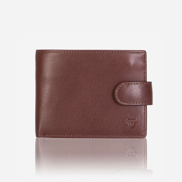 Multi Card Leather Wallet With Inner Zip, Brown