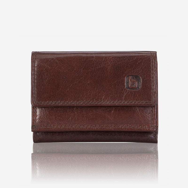 Compact TriFold Leather Wallet, Brown - Leather Wallet | Brando Leather South Africa