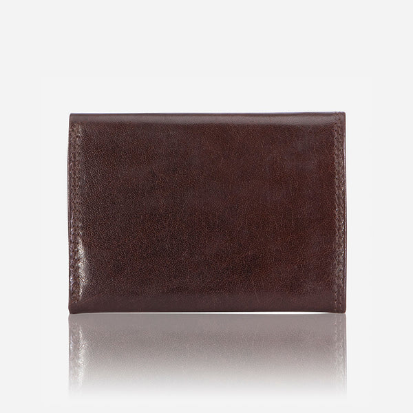 Compact TriFold Leather Wallet, Brown