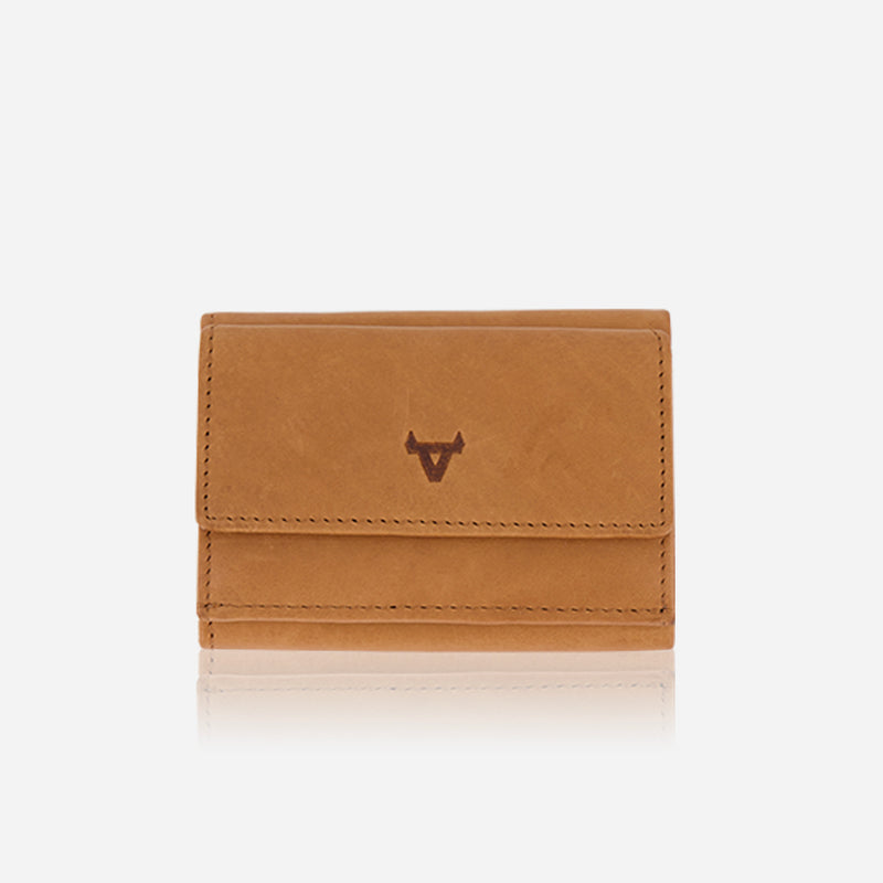 Compact Leather Trifold Wallet, Tan - Leather Wallet | Brando Leather South Africa