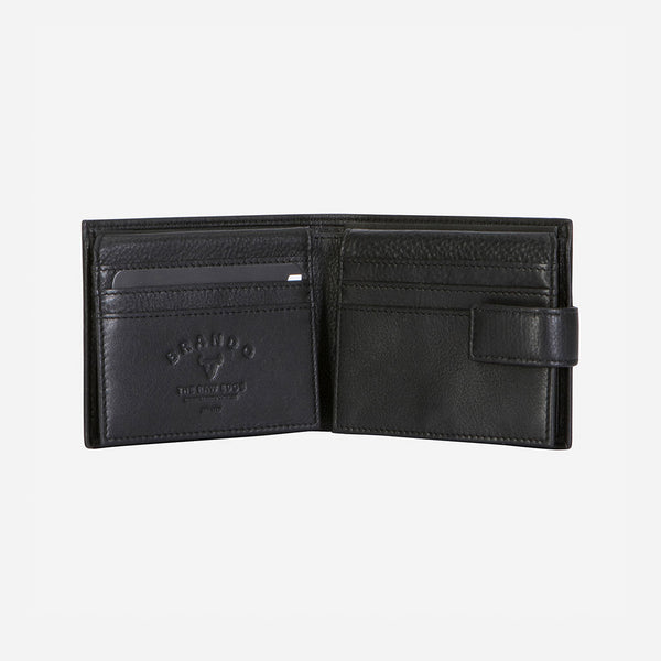 Essential Leather Executive Wallet, Black - Leather Wallet | Brando Leather South Africa