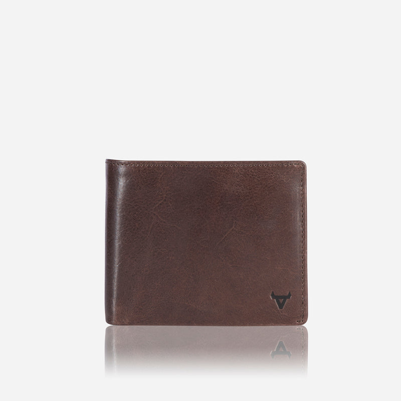 Cooper X Wallet with Flap, Brown - Leather Wallet | Brando Leather South Africa