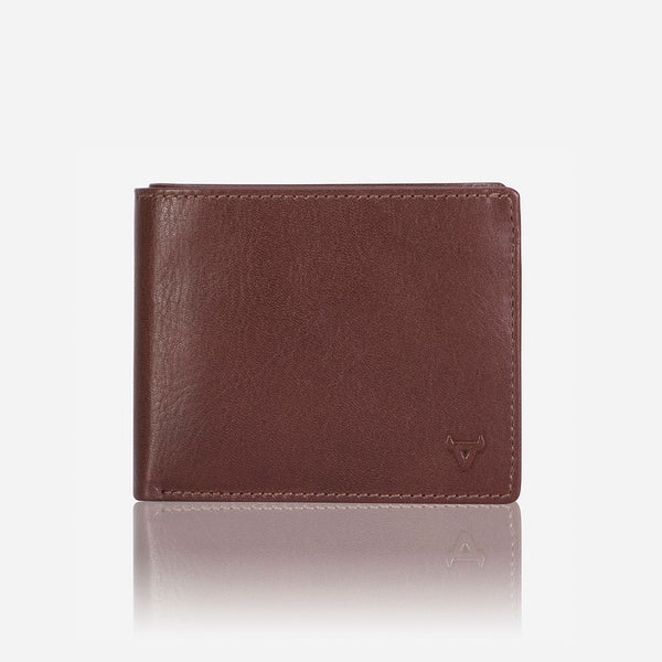 Classic Billfold Men's Leather Wallet, Brown - Wallet | Brando Leather South Africa