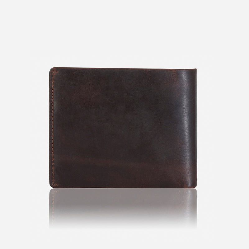 Leather Flip Over Wallet, Brown - Leather Wallet | Brando Leather South Africa