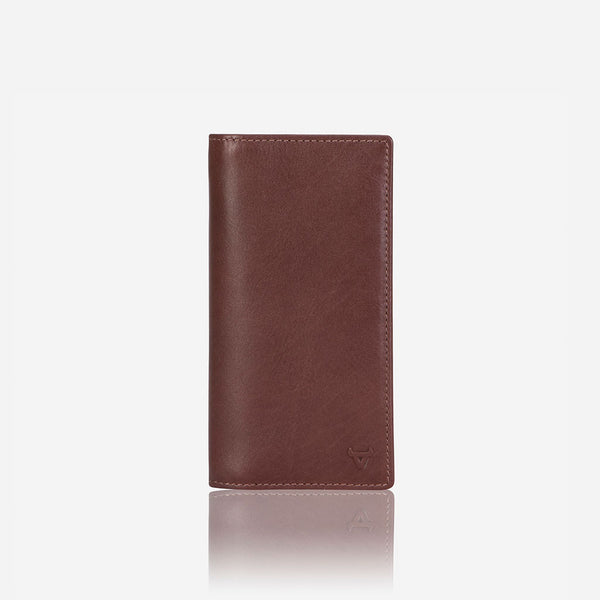 Upright Leather Pocketbook, Brown