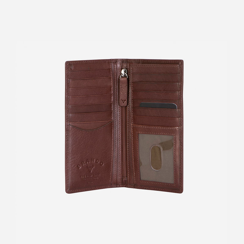 Upright Leather Pocketbook, Brown - Leather Wallet | Brando Leather South Africa