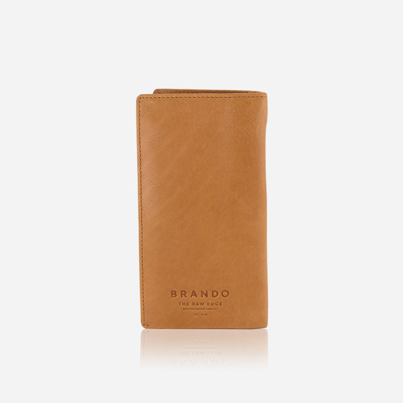 Genuine Leather Pocketbook, Tan - Leather Wallet | Brando Leather South Africa