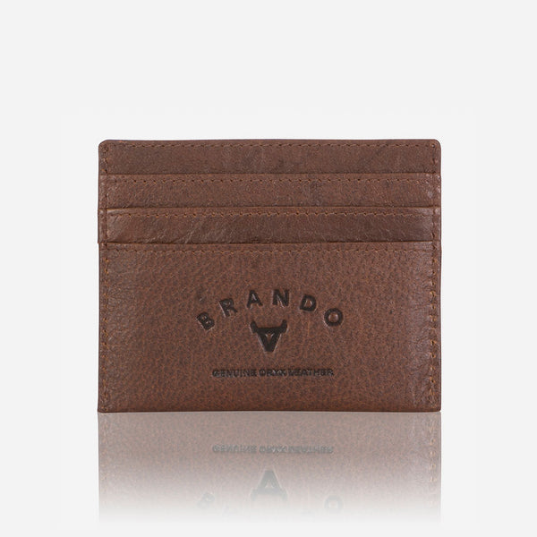 Slim Oryx Leather Card Wallet, Brown - Wallet | Brando Leather South Africa