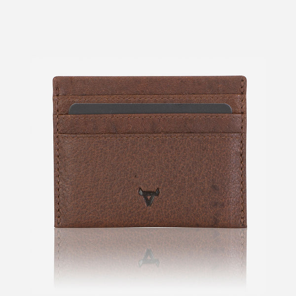 Slim Oryx Leather Card Wallet, Brown
