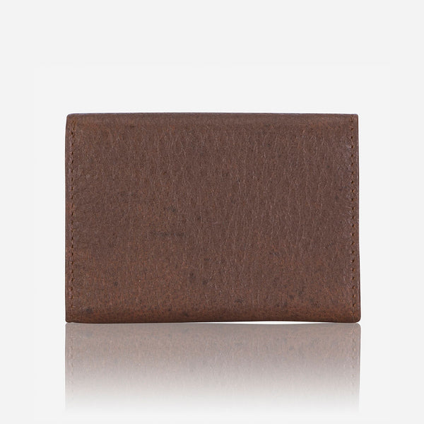 Compact Mini Trifold Wallet, Brown - Wallet | Brando Leather South Africa