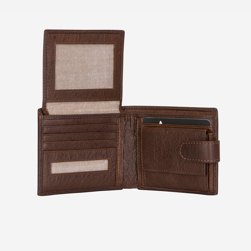 Multi Card Oryx Leather Wallet, Brown - Leather Wallet | Brando Leather South Africa
