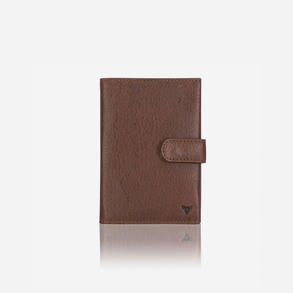 Leather Passport Holder & Wallet, Brown