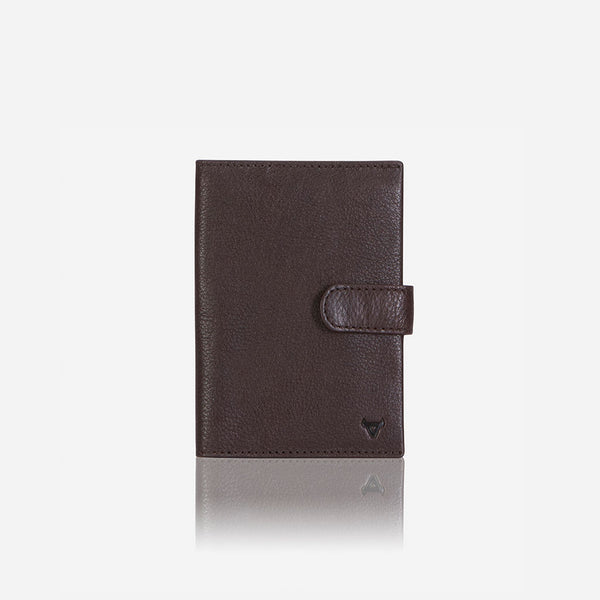 Leather Passport Holder & Wallet, Dark Brown - Passport Cover | Brando Leather South Africa