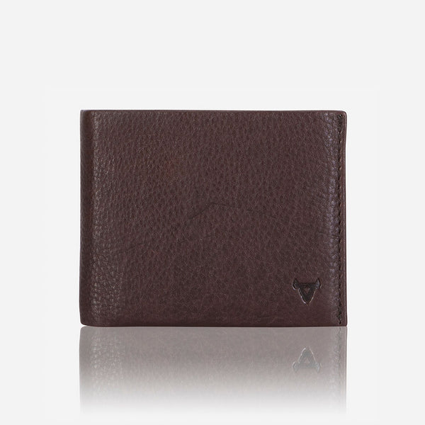 Multi Card, Coin + Note Leather Wallet, Dark Brown - Leather Wallet | Brando Leather South Africa