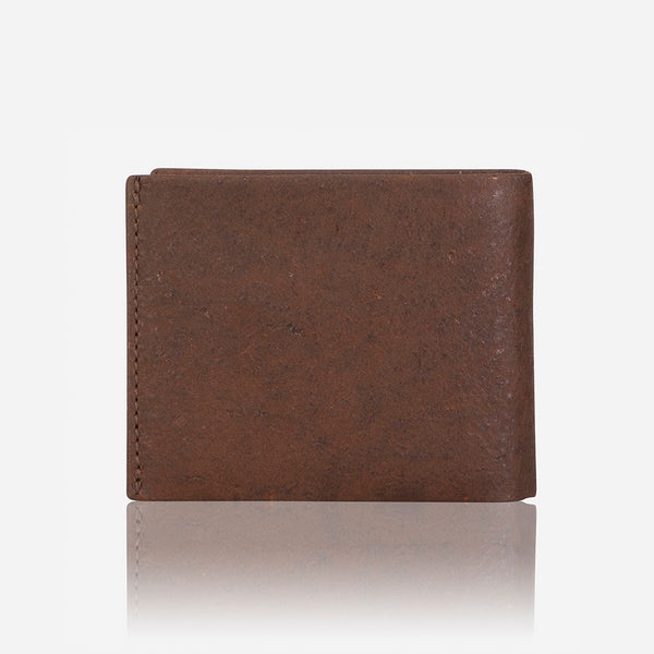 Multi Card, Coin + Note Leather Wallet, Brown