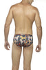Zoiro Party 0051 Micro High Rise Fashion Brief-Burgandy-Horse Print