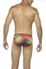 Zoiro Party 0051 Micro High Rise Fashion Brief-Red-Angel Print