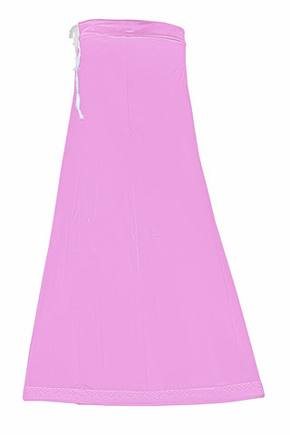 Googlias Women's Lace Bottom Satin Saree Slips Length 40-Baby Pink