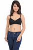 Juliet Women's 1031 Seamless Low Cut T-Shirt Bra-Black