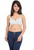 Juliet Women's 1031 Seamless Low Cut T-Shirt Bra-White