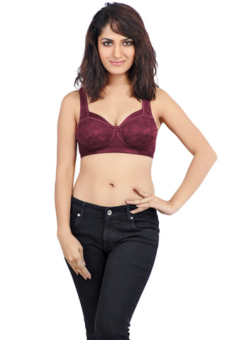 Juliet 1036 Women's  Bra-Maroon