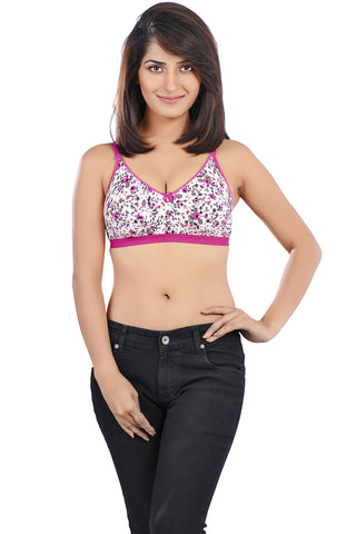 Juliet 1066 Women's Cotton Saree Bra-Rani