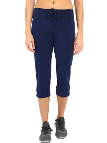 Jockey Women's Imperial Blue Capri Pants-1300