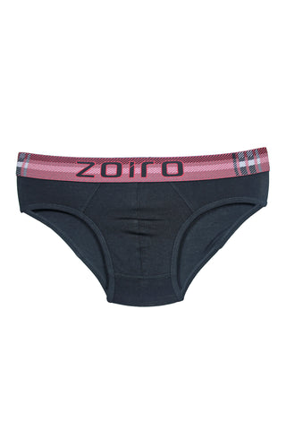 Zoiro Lorenzo 1101 Premium Cotton Midrise Brief-Black