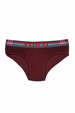 Zoiro Lorenzo 1101 Premium Cotton Midrise Brief-Maroon