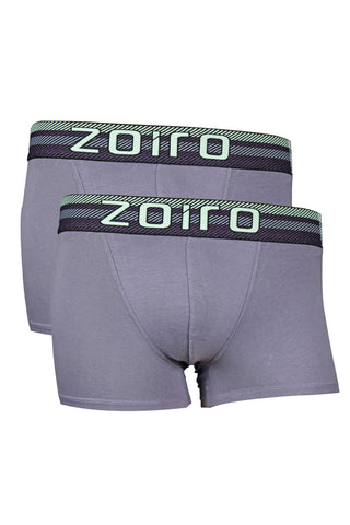 Zoiro Lorenzo 1102 Men's Premium Cotton Mid Rise Trunk-Lilac [Pack Of 2]