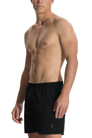Jockey 1201 Men's Cotton Boxer Short-Black