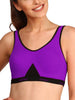Jockey Pruple Black Non Padded Seamless Active Slip On Bra-1376