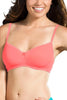 Jockey 1723 Soft Cup Women's Seamless Cotton Medium Coverage T-Shirt Bra-Peach Blosson