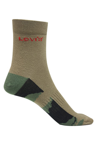 Levis Unisex Pack Of 1 Cotton Flat Knit High Ankle -harves gold
