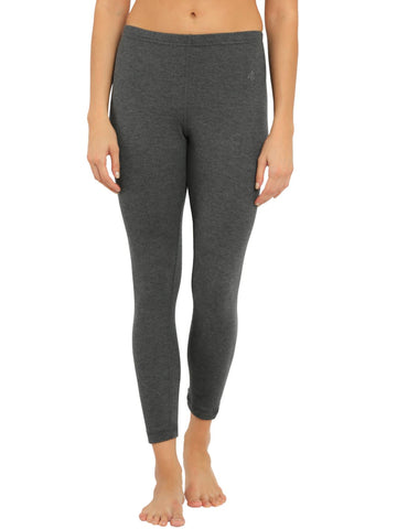 Jockey Women's Charcoal Melange Thermal Leggings-2520