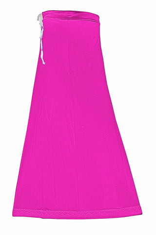 Googlias Women's Lace Bottom Satin Saree Slips Length 40-Rani Pink