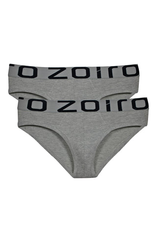Zoiro Men's Primo 3101 Premium Cotton Mid Rise Brie-Grey Mel [Pack Of 2]