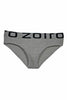 Zoiro Men's Primo 3101 Premium Cotton Mid Rise Brief-Grey Mel