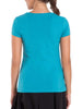 Jockey Women's V-Neck Teal Melange T-Shirt-1359
