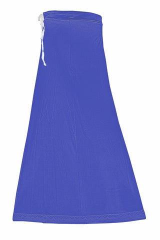Googlias Women's Lace Bottom Satin Saree Slips Length 40-Bright Royal