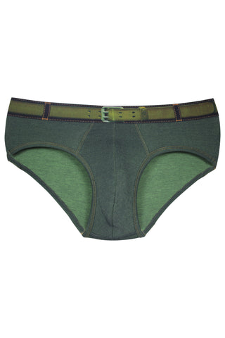 Zoiro Denin 4101 Premium Cotton Fashion Midrise Brief-Green Band (2)