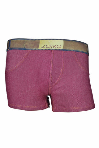 Zoiro Denin 4102 Premium Cotton Mid Rise Fashion Trunk-Maroon Band (2)