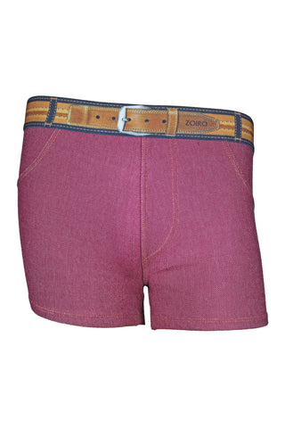 Zoiro Denin 4102 Premium Cotton Mid Rise Fashion Trunk-Maroon Band (3)