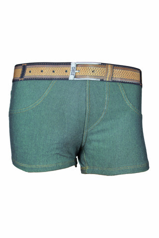 Zoiro Denin 4102 Premium Cotton Mid Rise Fashion Trunk-Green Band (1)